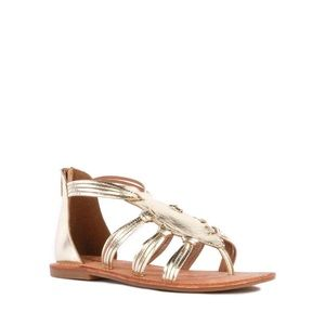 💫Gold gladiator style sandals